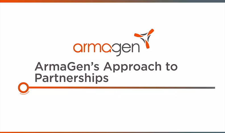 ArmaGen's approach to partnerships